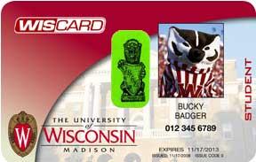 University of Wisconsin identification card with green gargoyle sticker on it