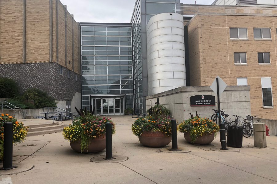 Exterior shot of the law school building.